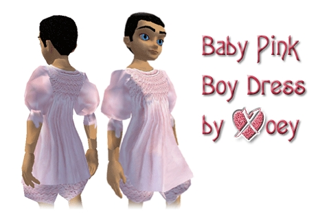 This is the product Image of the Baby Pink Dress available for the male ...