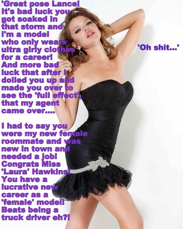 Made Into A Lovely Sissy Model, fashion,model, Feminization