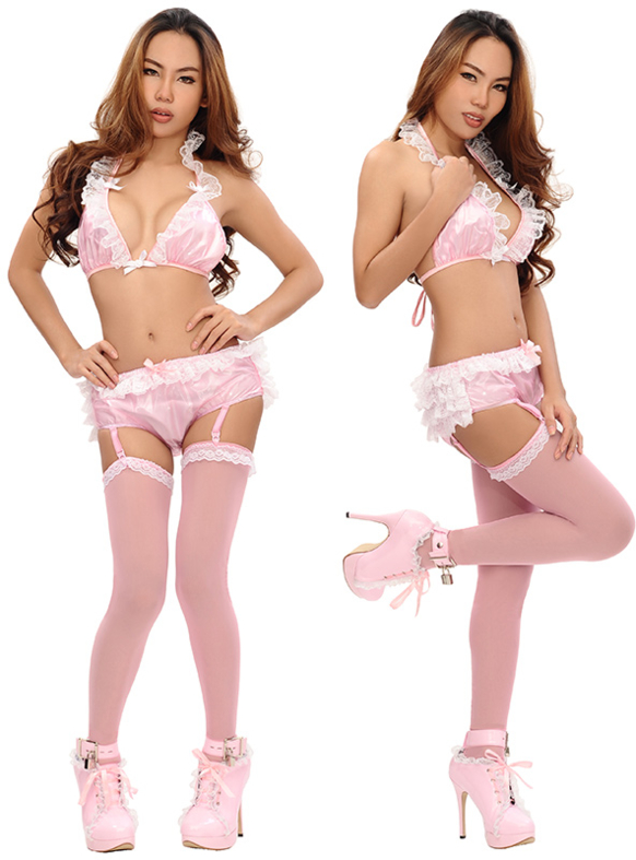 New Lace-Top Sheer Stockings At Sissy Kiss Boutique, sissy clothing,sissy wear,sissy stockings, Sissy Fashion,Dolled Up