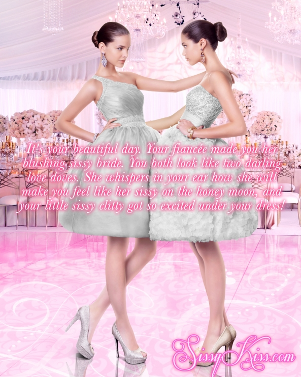 A Blushing Sissy Bride, sissy wedding, Feminization,Wedding,Sissy Fashion,Dolled Up