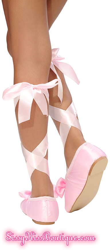 Sissy Ballet Slippers From Sissy Kiss Boutique, fashion,lingerie,baby doll,sissy clothing,sissy wear, Feminization,Sissy Fashion,Dolled Up