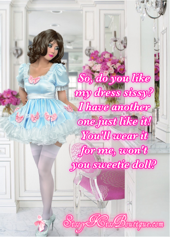 How about this dress sissy?, dress, Feminization,Sissy Fashion,Dolled Up