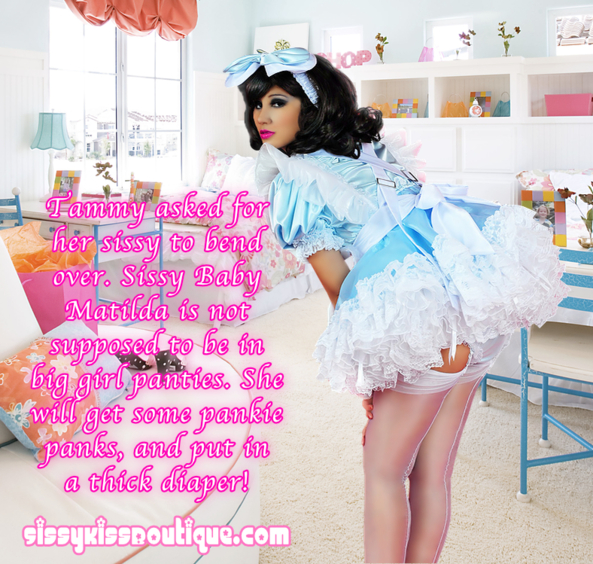 Sissy Baby Matilda, thick diaper, Feminization,Adult Babies,Spankings