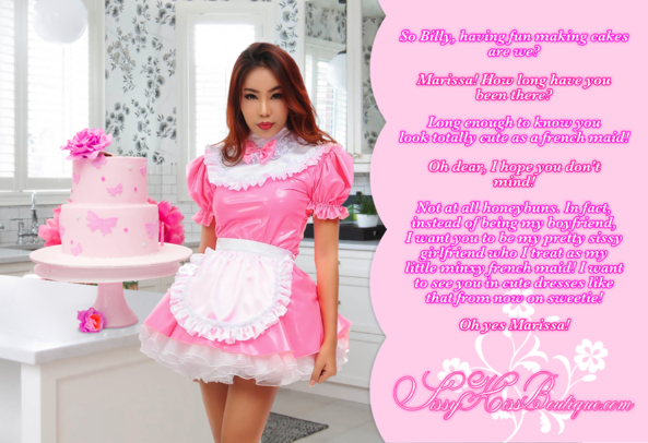 Getting Caught Having Sissy Fun, cakes,french maid,sissy maid, Feminization,Sissy Fashion,Dolled Up