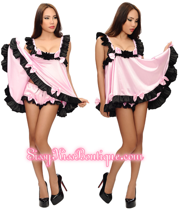 The Pretty Bows Dolly Dress - New By Sissy Kiss Boutique ʚ💗:๑~❀~๑:💗ɞ, fashion,lingerie,baby doll,sissy dress,outfits,petticoat,sissy maid,french maid,sissy clothing,sissy wear, Sissy Fashion,Dolled Up
