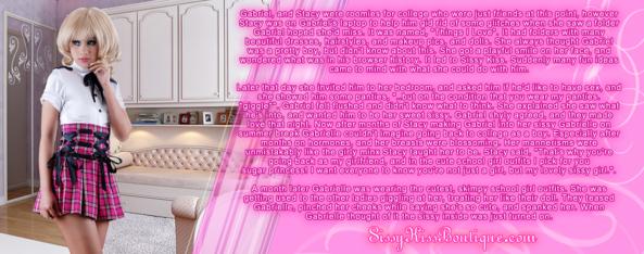 Sissy School Girl Gabrielle, school girl, Feminization,Gay Orientation
