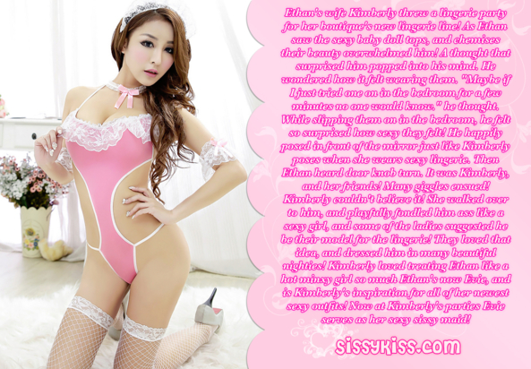 A Sissy Maid For A Lingerie Party, lingerie, Feminization,Sissy Fashion,Dolled Up