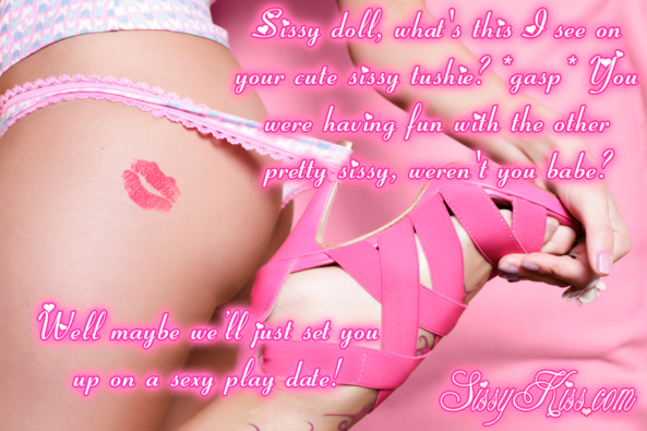A Sissy Kiss On Your Pantied Bottom, Lipstick,Kisses,Play Date,Heels,Panties,Mommy,Mistress, Feminization,Dominating Mistress Or Master