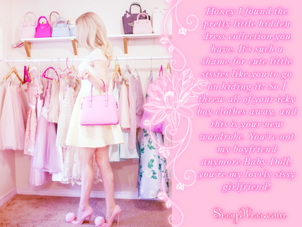 Your New Wardrobe ✧・゚💗👠👗💗✧・゚, dresses,closet,caught, Feminization,Dolled Up,Sissy Fashion