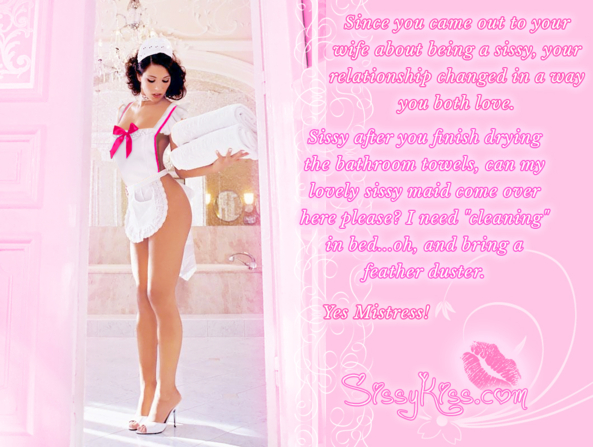 Put In Heels & Cute Aprons, Sissy Maid,French Maid,Sexy Maid, Feminization,Dominating Mistress Or Master,Dolled Up,Sissy Fashion