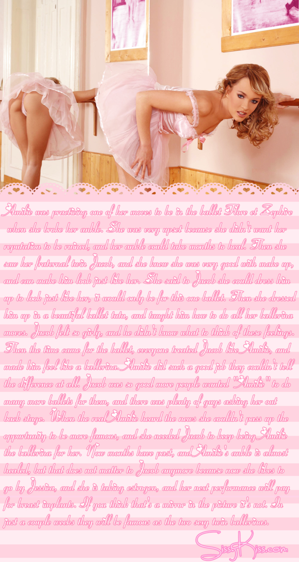 Sissy Ballerina Jessica, Feminization,Breast Implants