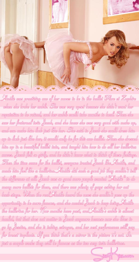 Sissy Ballerina Jessica, Feminization,Breast Implants
