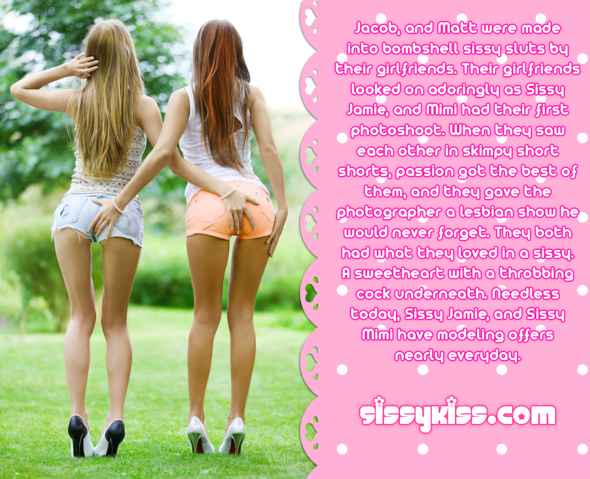 Sissy Jamie, and Mimi's Photoshoot, Feminization,Gay Orientation