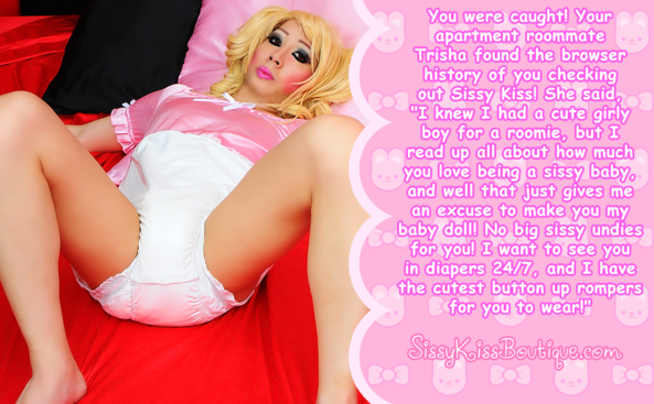 Your roomie found you've been visiting Sissy Kiss!, Adult Babies,Feminization