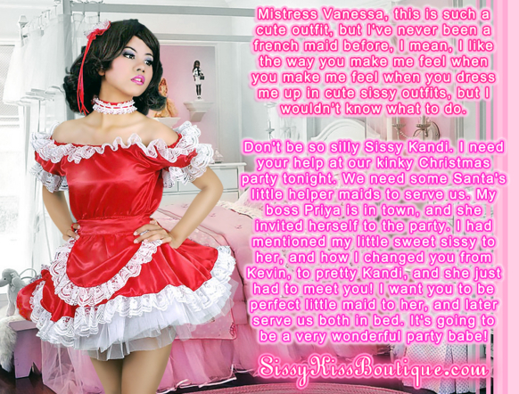 Santa's Little Helper Maid, Feminization