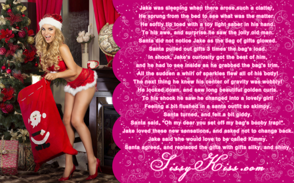 A Visit From Santa, Feminization,Magical Change,Fairytale,Quick Change