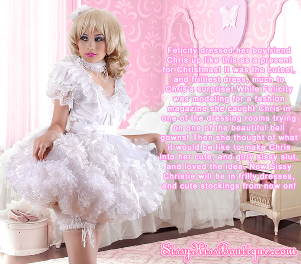 Sissy Christie's Christmas Gift, Feminization,Sissy Fashion,Dolled Up,Holiday