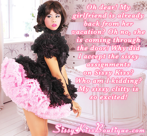 Caught while doing a sissy assignment!, Feminization
