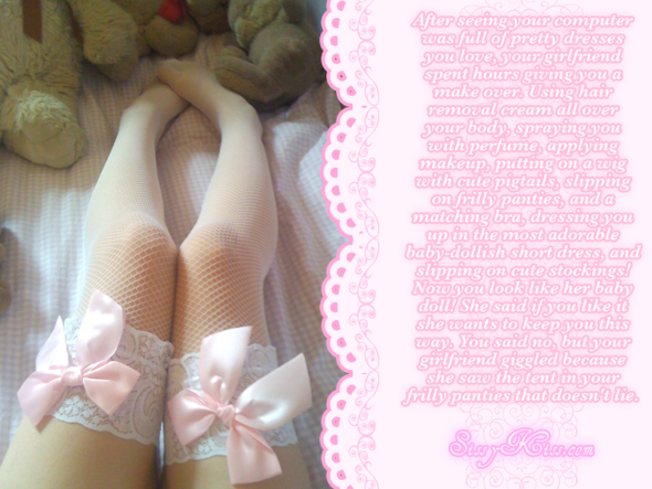 Made Into Your Girlfriend's Babydoll, Feminization