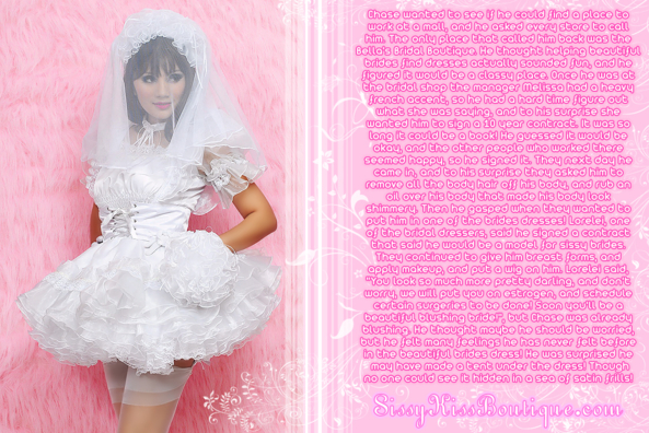 Becoming a sissy bridal model, Feminization,Hormones,Changed By Accident,Sissy Fashion,Dolled Up