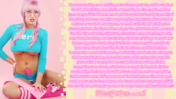 Sissy Alexis, Feminization,Increased Sexuality,Technological Transformation,Sci-Fi