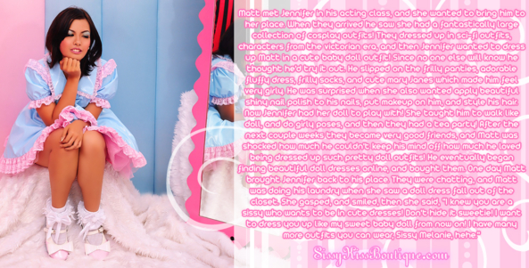 Sissy Melanie, Feminization,Sissy Fashion,Dolled Up