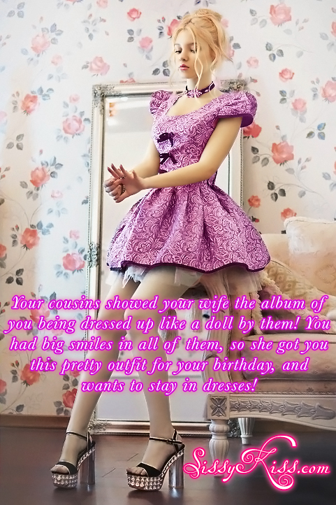 A sissy's birthday gift, Feminization,Dolled Up,Sissy Fashion