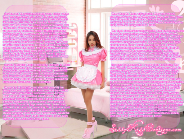 Made into a sissy maid in an alternate universe!, Feminization,Sci-Fi