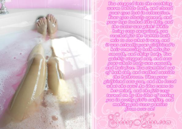 A Lovely Bubble Bath, Feminization