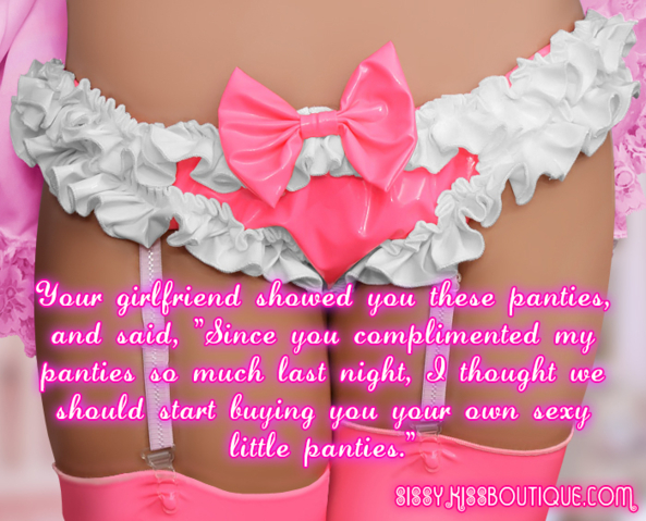 Here is some lovely panties for you sissy, Feminization,Sissy Fashion,Dolled Up