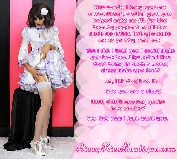 A beautician had fun with you!, Feminization,Sissy Fashion,Dolled Up