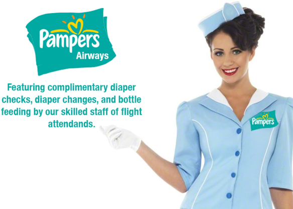 How would you like to fly on these airways?, pampers airways, Adult Babies,Feminization
