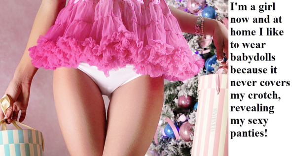 *Wiggles Pantied Bottom* ^_^, baby doll,lingerie, Feminization,Sissy Fashion,Dolled Up