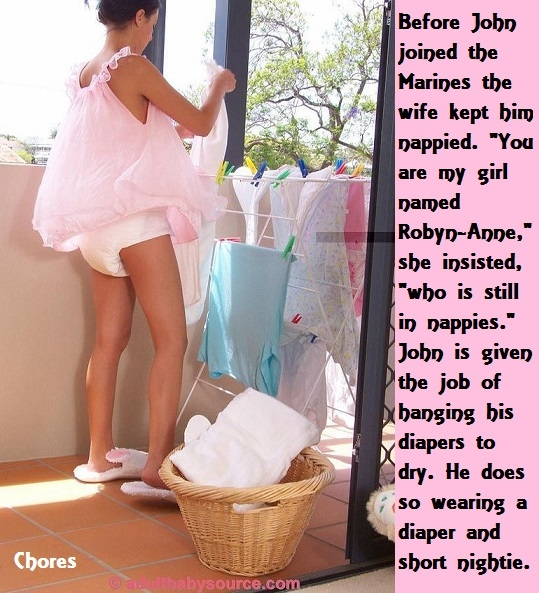 John Is Robyn - John likes to crossdress and become Robyn. Sometimes a diaper is needed., Cheerleader,Nurse,Diaper,Panty, Adult Babies,Feminization,Identity Swap,Sissy Fashion