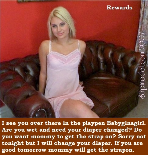 Slip Models Love Adult Babies - I have captioned a few friends who have lovely Slip Models to put them in diapers., Slips,Bra,Panties,Diaper,Sissybaby, Adult Babies,Feminization,Humiliation,Diaper Lovers