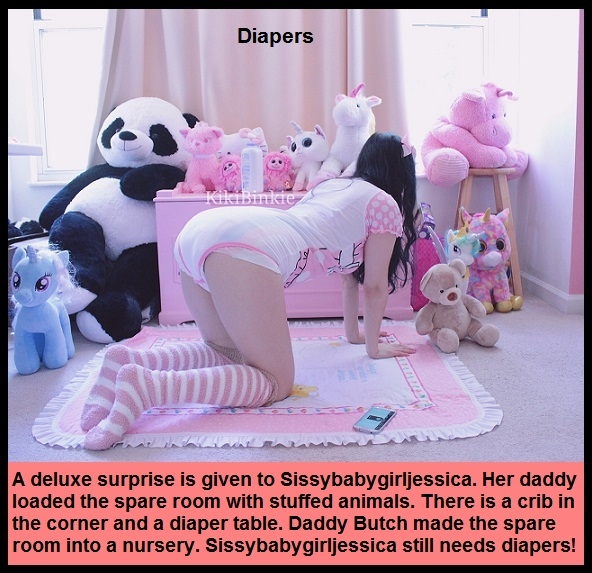 AB Nappy 2 - I have captioned Sissy Kiss friends as adult babies wearing nappies. These adult babies are sissybabies., Mommy,Daddy,Diaper,Nappy,Dominate, Adult Babies,Feminization,Identity Swap,Sissy Fashion