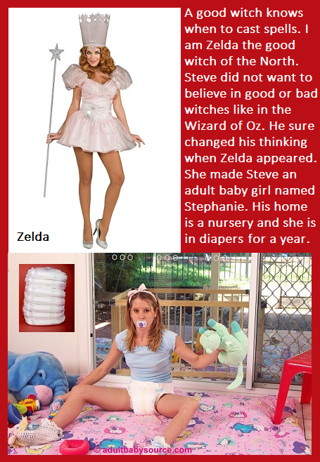 Magic Act - I have posted 5 cappies that involve some kind of magic., Magician,Diaper,Fairy,Witch, Adult Babies,Feminization,Humiliation,Diaper Lovers