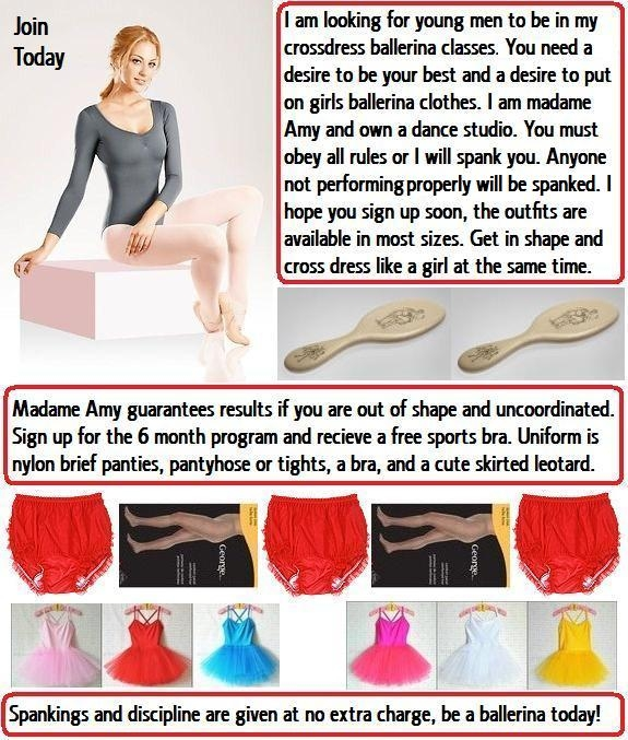 Leotard Sissy - Many males are dressed up as ballerinas in leotards and tights. Some old cappies not posted before., Panty,Bra,Leotard,Tights,Sissy, Feminization,Identity Swap,Sissy Fashion