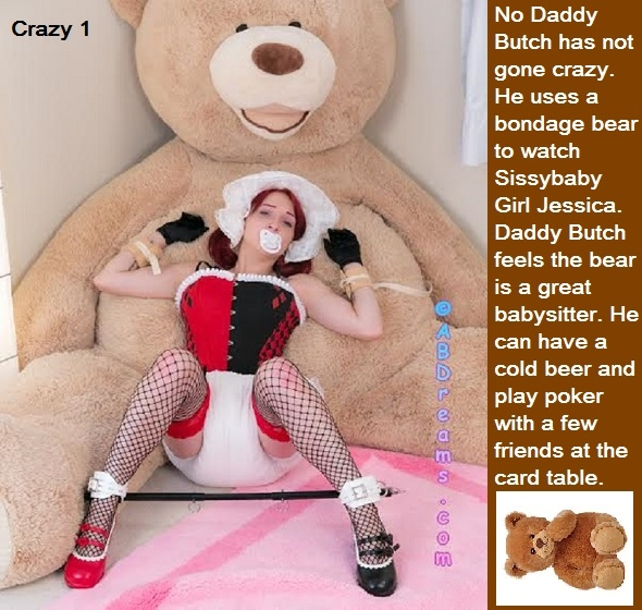 Bondage Bear - As requested some bondage bear cappies for my baby girl. Master bear cappies are included., Bondage,Diapers,Daddy,Baby Girl,Playpen,, Adult Babies,Feminization,Identity Swap,Sissy Fashion