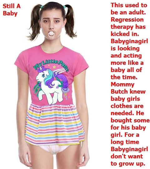 Regression Time - Babyginagirl is regressed and being taken care of by Mommy Butch., Diapers,Regression,Babying,Baby Girl, Adult Babies,Feminization,Identity Swap,Sissy Fashion