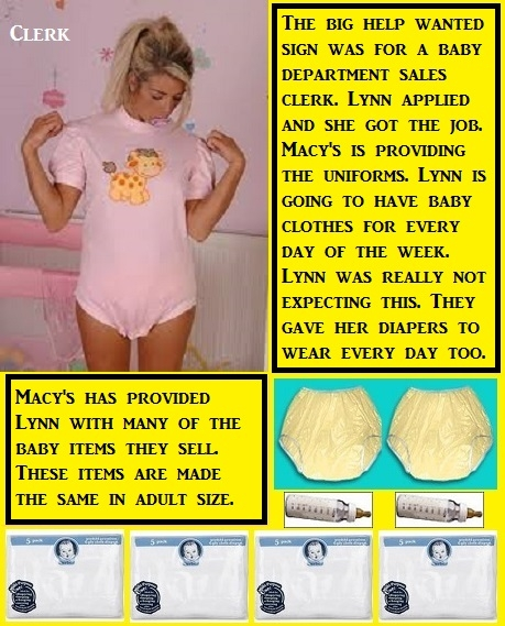 Ten Old Cappies - Here are 10 old cappies mostly about diapers. A poll is added for favorites., Plastic Panties,Tights,Leotard,Panties,Diapers, Adult Babies,Feminization,Identity Swap,Sissy Fashion