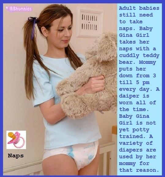Babyginagirl's Life - I created a ten cappie story about site member Babyginagirl's life as a sissybaby., Sissybaby,Diaper,Enema,Suppository, Adult Babies,Feminization,Humiliation,Diaper Lovers