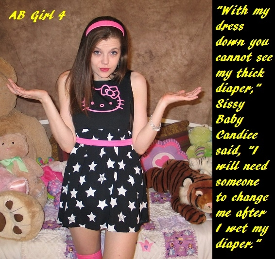 AB Girl 1 - 4 - A short story about Sissy Baby Candice. Bonus Sissyjiimi cappie added., Bed Wetter,Sissybaby,Dress,Diaper, Adult Babies,Feminization,Identity Swap,Sissy Fashion