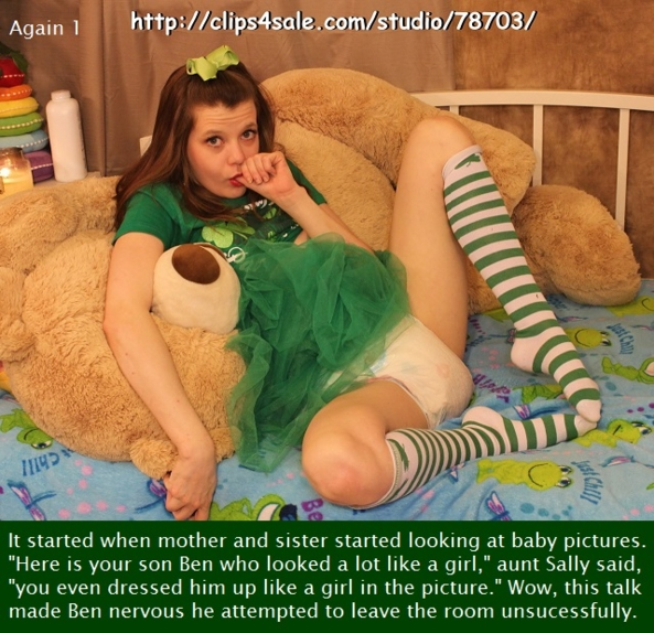 Again 1 - 4 - A story about a young man being made an adult baby girl., Dominate,Sissybaby,Diapered,Embarrassed, Adult Babies,Feminization,Identity Swap,Sissy Fashion