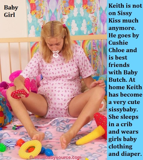 New Year 2018 - 2 - I have captioned many of my Sissy Kiss friends already having fun in the new year., Sissy,Sissybaby,Diaper,Panty, Adult Babies,Feminization,Identity Swap,Sissy Fashion