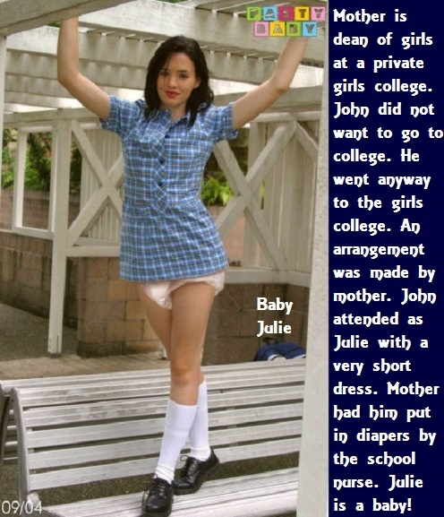 Diaper Dominated - Four new cappies about being dominated with diapers. Some are also made a baby girl or sissybaby., Sissybaby,Diaper,Domination,Wetting, Adult Babies,Feminization,Identity Swap,Sissy Fashion