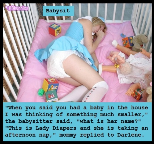 Scrapbook Cappies 11 - I have captioned 8 friends to be under the spotlight in my scrapbook., Sissy,Sissybaby,Panty,Diaper, Adult Babies,Feminization,Humiliation,Diaper Lovers