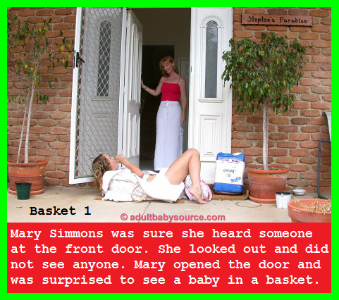 Basket 1 - 5 - Mary finds a baby in a basket on her doorstep. The baby is called Babyginagirl., Mommy,Baby,Basket,Diapers, Adult Babies,Feminization,Humiliation,Diaper Lovers