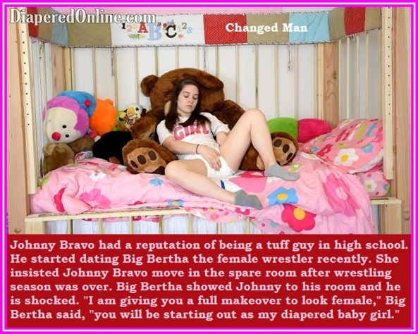 Various Captions 2 - Here are four captions each with a different theme., Grandma,Girlfriend,Mommy,Wife, Adult Babies,Feminization,Humiliation,Diaper Lovers