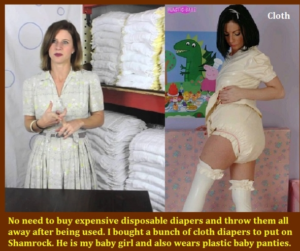 Double Image - Each captioned piccie is made with 2 seperate images., Mommy,Mistress,Nurse,Diaper, Adult Babies,Feminization,Identity Swap,Sissy Fashion